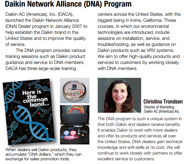 HVAC Contractor Tacoma And Seattle WA - Daikin Network Alliance (DNA) Program